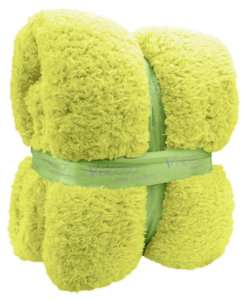 TEDDY BEAR FLEECE SOFT WARM LUXURY THICK CUDDLE THROW PLUSH BLANKET APPLE GREEN COLOUR